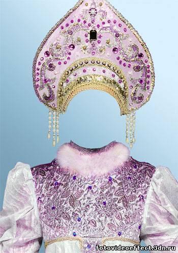 Шаблон русский народный костюм